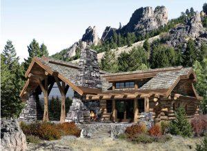 Комбинированный дом из лафета