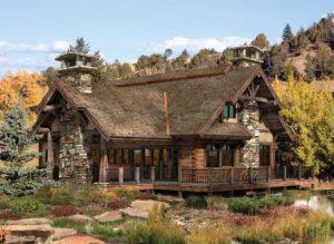 Комбинированный дом из профилированного бруса