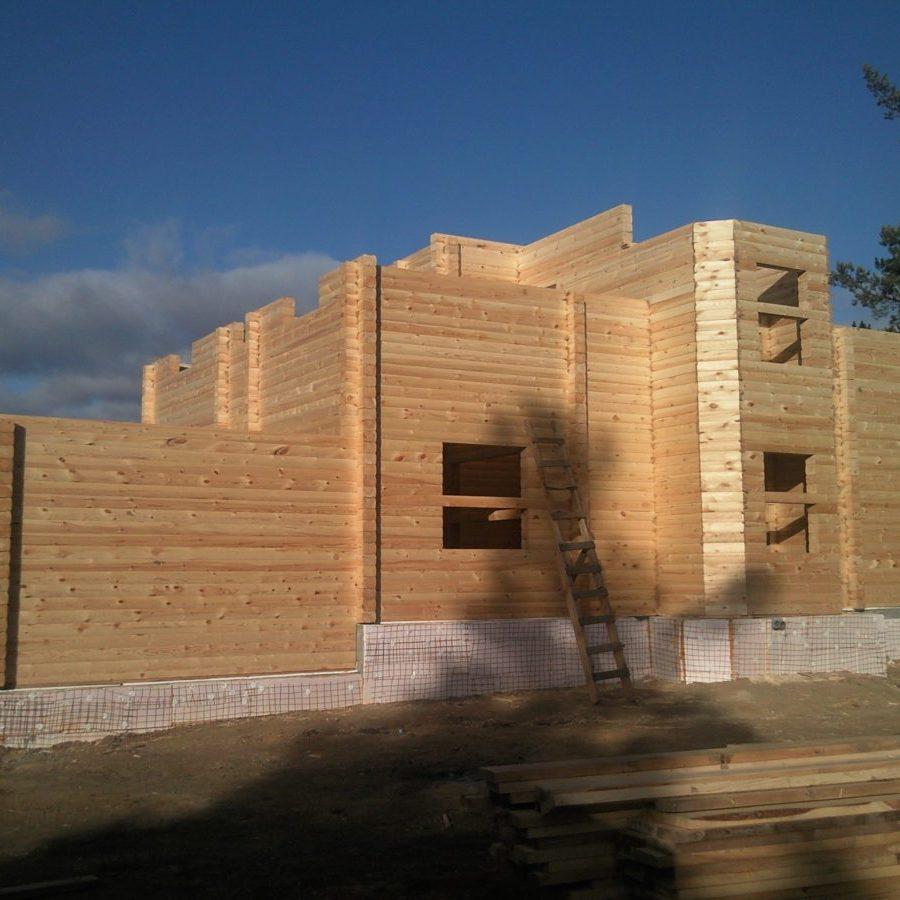 услуги строительства домов из профилированного бруса