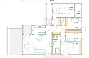 план дома проект А155